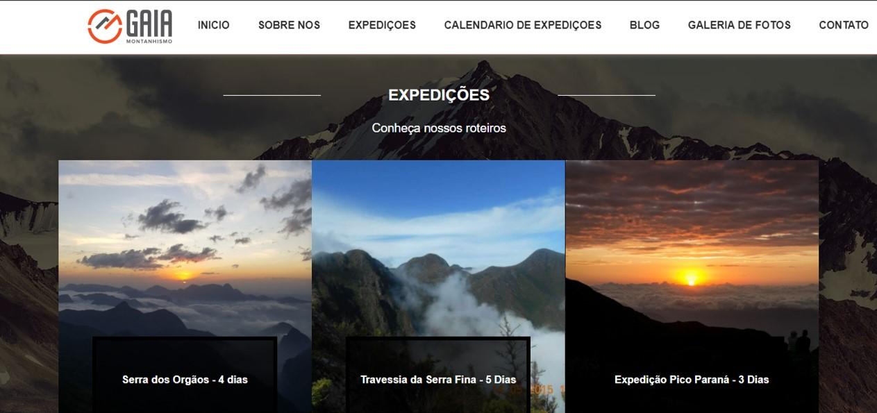Site Gaia Montanhismo